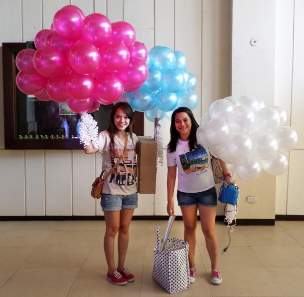 100pcs Small Flying Balloons for a Birthday at Cebu Country Club