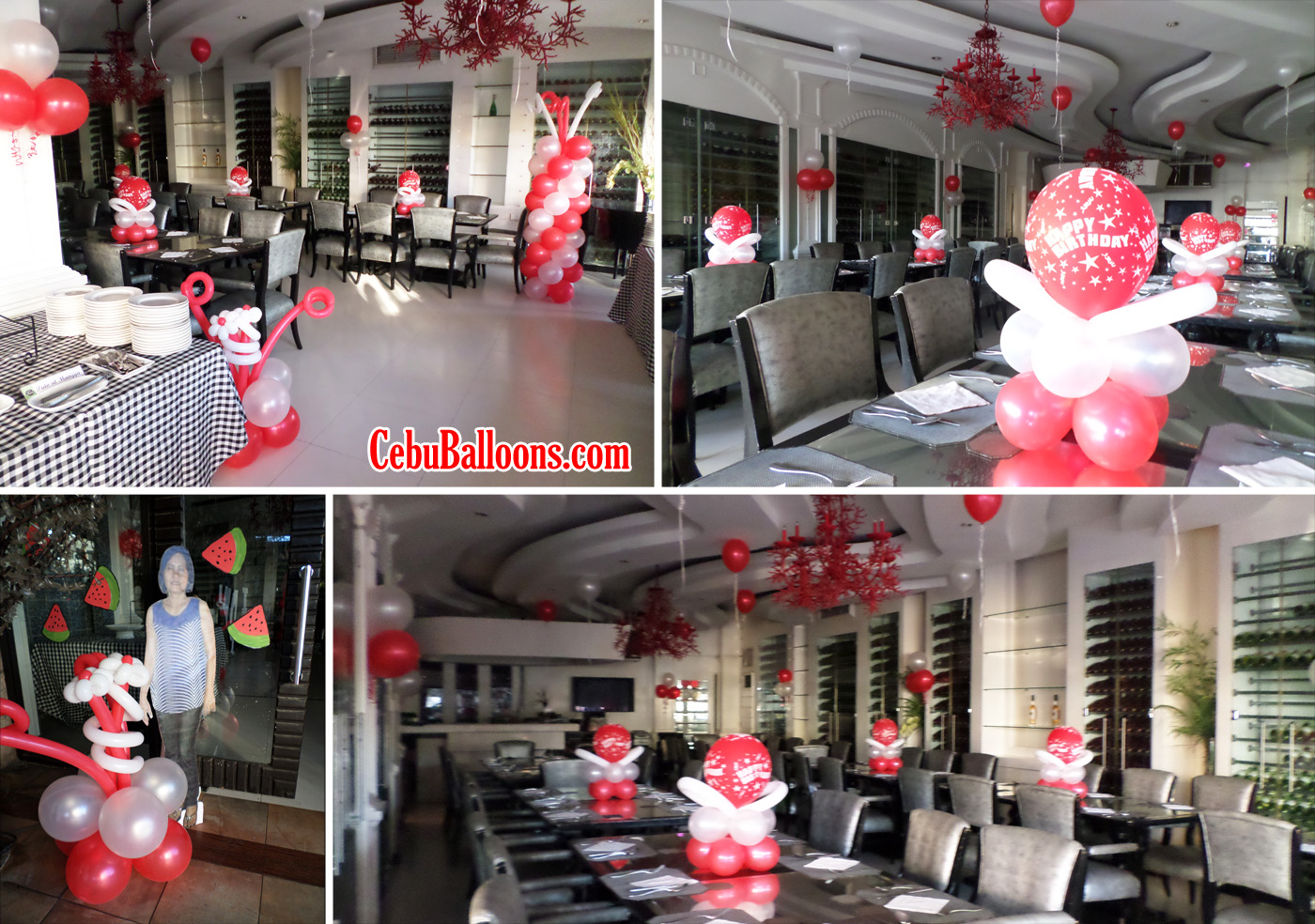 Balloon Decoration for a 60th Birthday Celebration at Pino