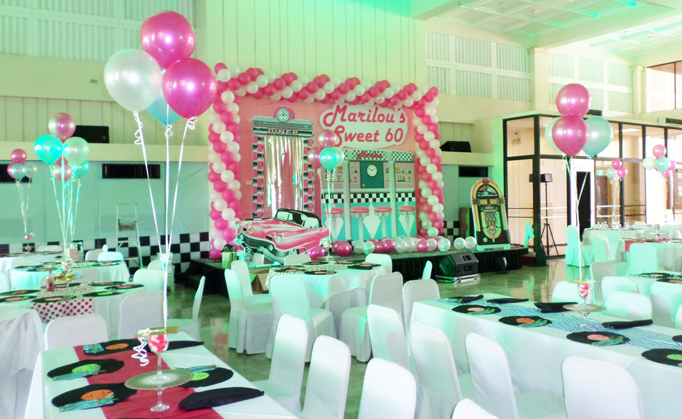 Balloons Styro Decoration For A 1950s Theme 60th Birthday Party At Cebu Country Club