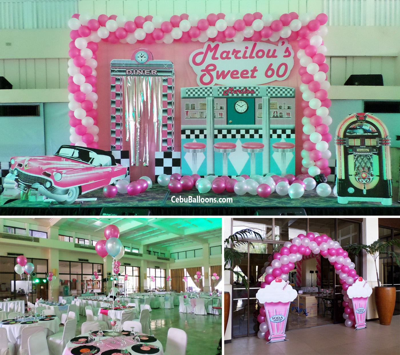 1950s 60s cebu balloons and party supplies for 1950s decoration