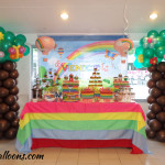 Dessert Buffet & Tree Balloons for a Wonderful Day Theme Double Celebration at Antonio's Place
