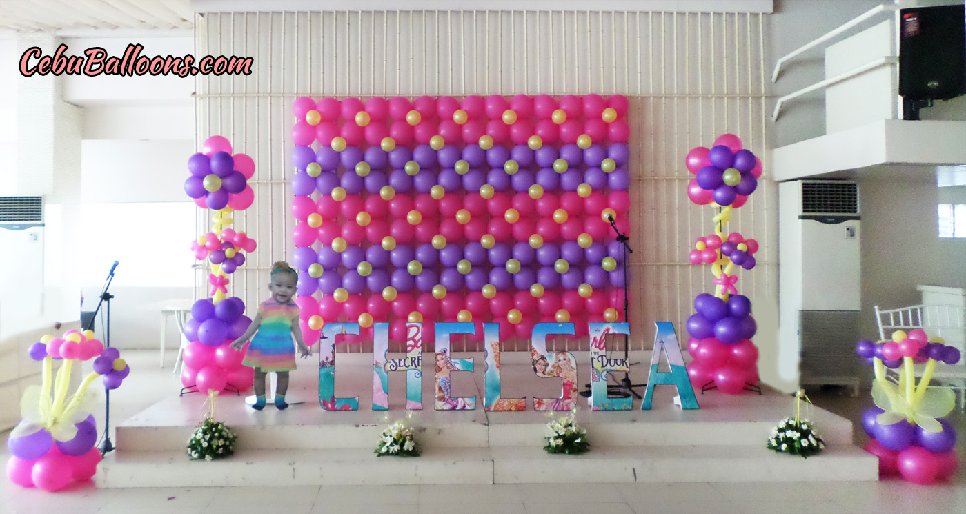 Bongga decor packages cebu balloons and party supplies for Balloon decoration for stage
