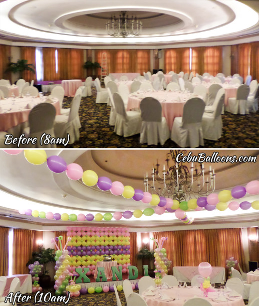 Before & After - Venue Transformation using Balloons
