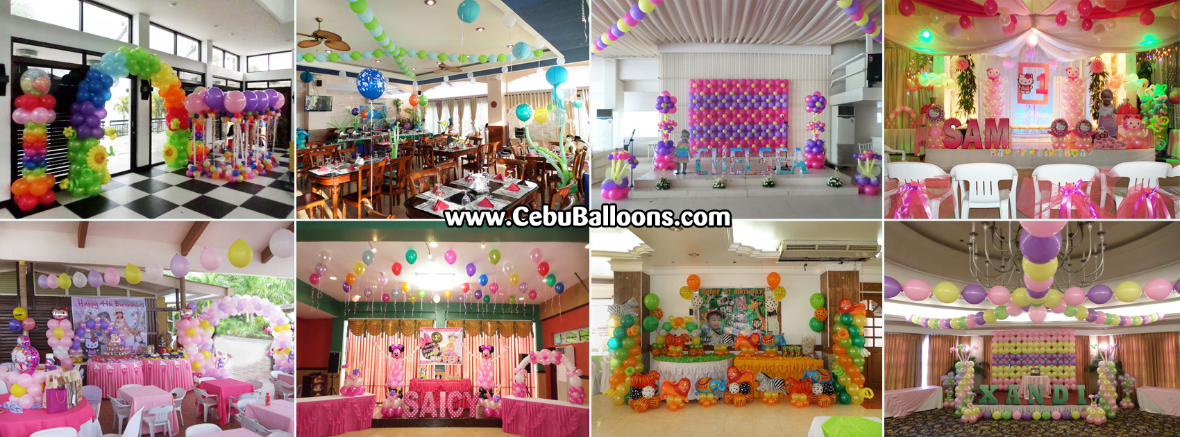 Bongga decor packages cebu balloons and party supplies for Balloon decoration packages manila
