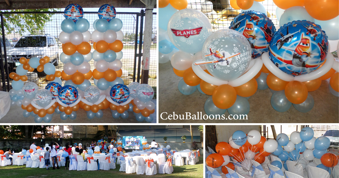 Disney planes cebu balloons and party supplies for Balloon decoration packages