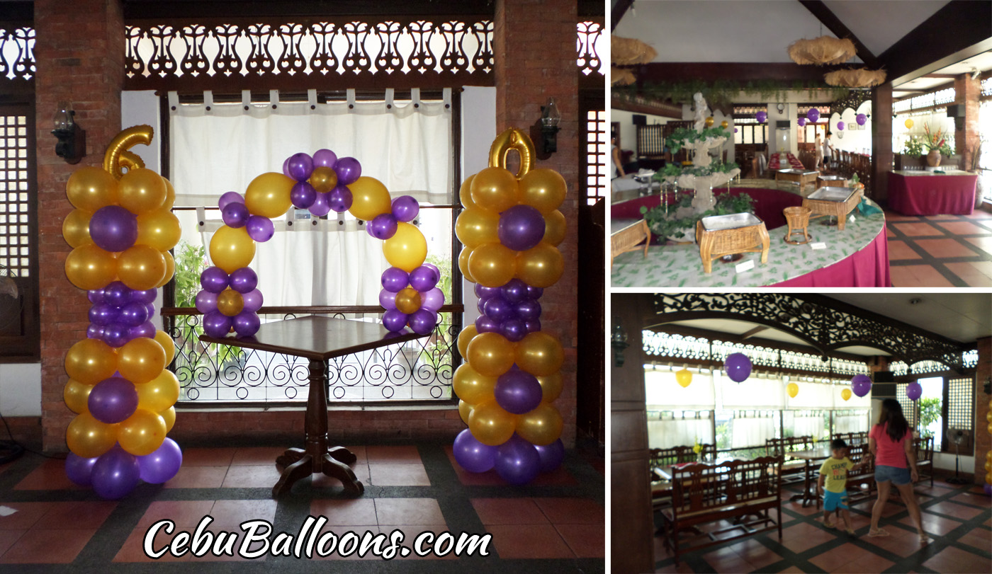 Balloon Decoration With Tarp For A 50th Birthday At Inayawan