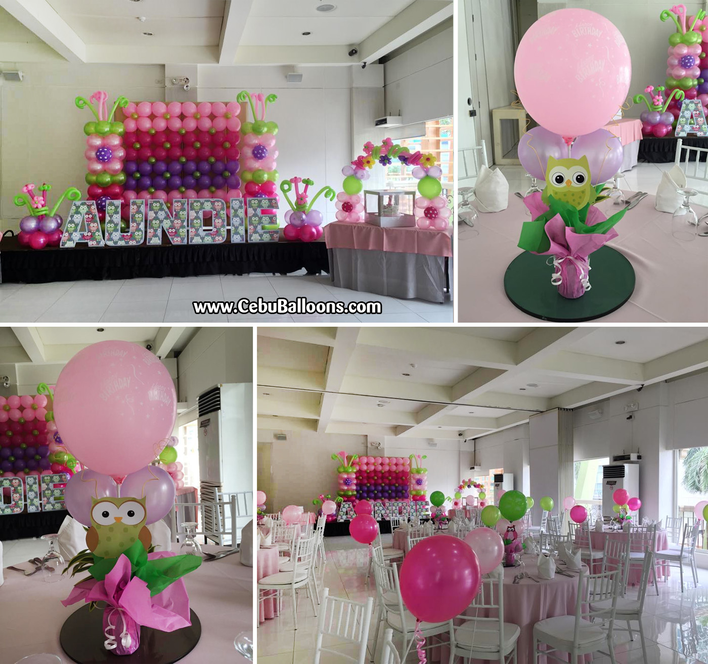 Owl Balloon Decorations Owl Theme Balloon Decorations With Styro Letters At Laguna Garden