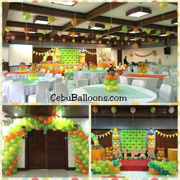 Safari-theme Bongga Decoration Package at Sacred Heart Center