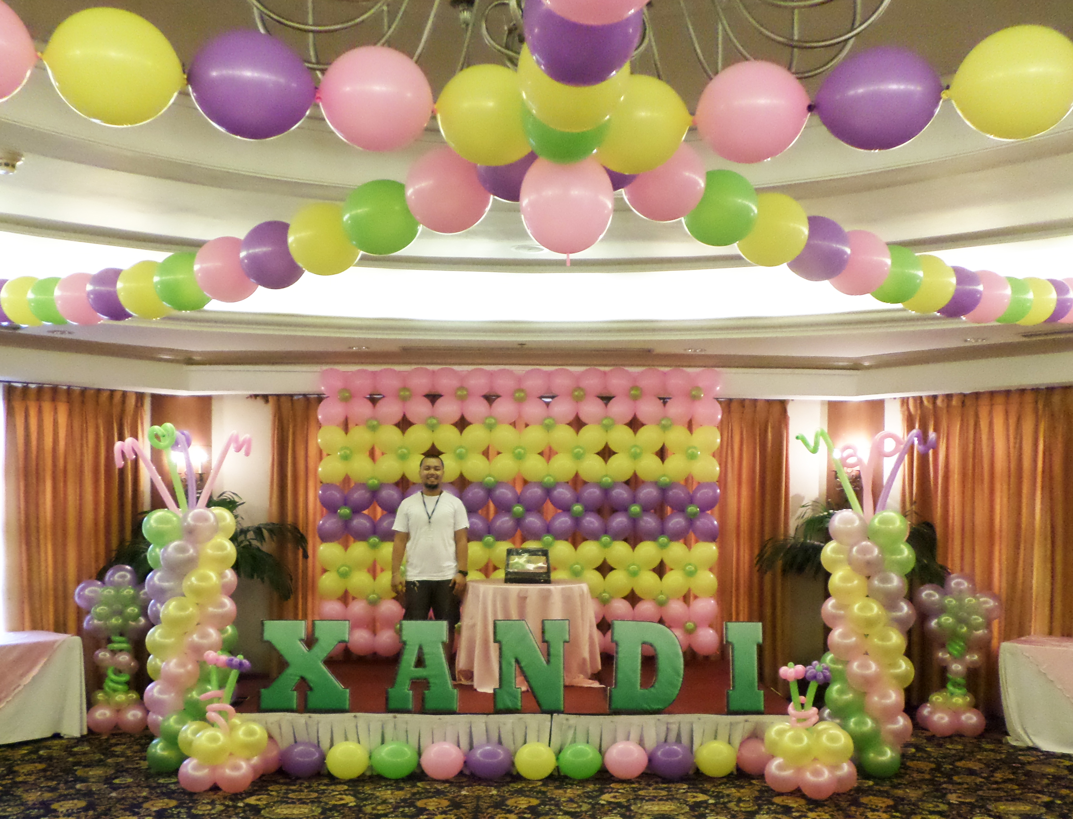 Wall Decoration Ideas With Balloons : Balloon wall prices conversion cebu balloons and party