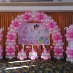 Front Balloon Decoration for a Christening