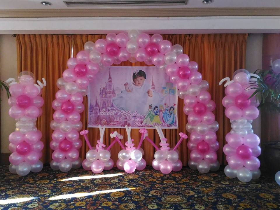 Front Balloon Decoration For A Christening Cebu Balloons