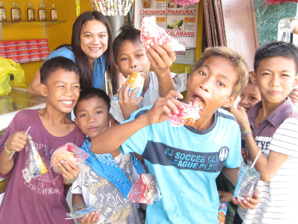 Snacks for Street Children at our Hopia Store
