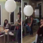 Thumbnail - Touching video of a dead child hugging his Mom through a White Balloon Post
