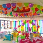 Venue with assorted decorations