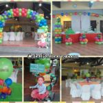 Ninja Turtle Balloon Decorations at an open clubhouse in Sto Nino Village