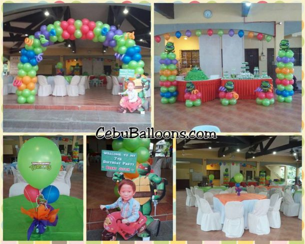 Cebu balloons and party supplies maranga for Turtle decorations for home