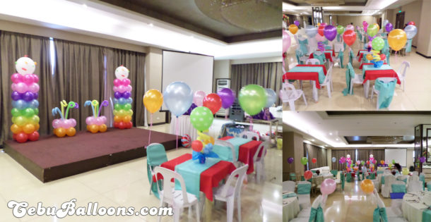 Colorful Ice Cream Balloons for a Boy's Birthday Party at Mandarin Plaza Hotel