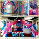 Disney Frozen Birthday Supplies and Balloon Setup at Metro Park