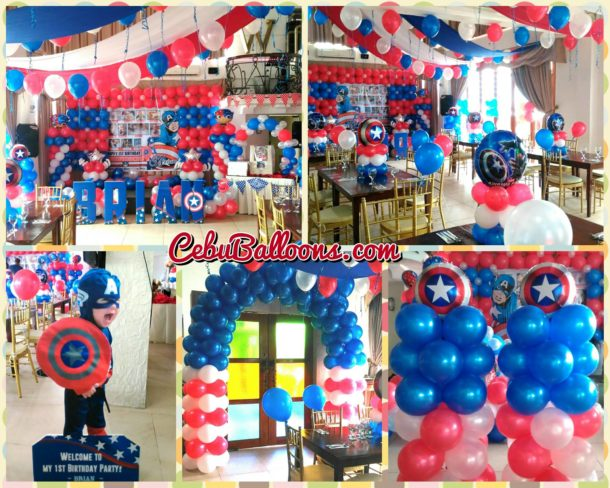 Captain America (Avengers) Bongga Decoration Package at Wellcome Hotel