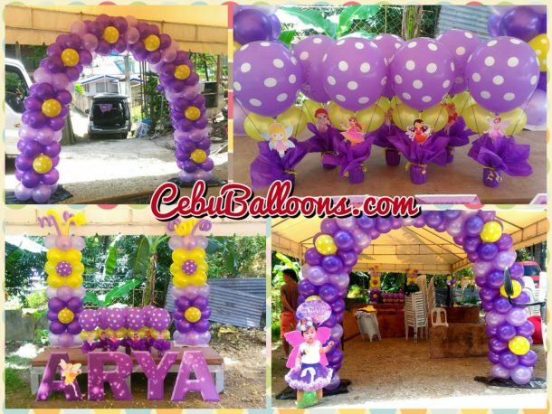 Fairy-themed decorations (Balloons and Styrocrafts)