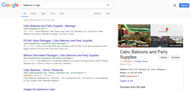 Search Results for Balloons in Cebu