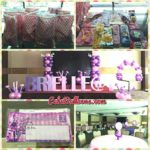 Brielle's Pink and Purple Balloons with Party Supplies at Bayfront