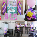 Disney Princess Balloon Decorations with Tarp & Letters at Amisa Residences Clubhouse