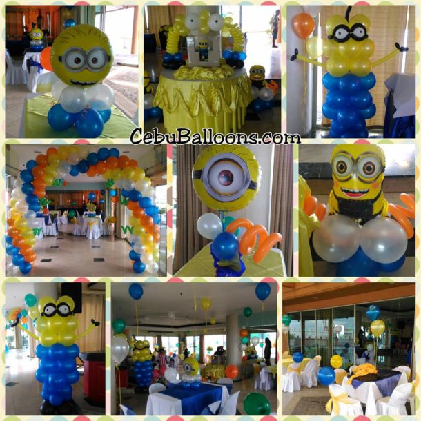 Minions Balloon Decors at Penthouse Sugbutel
