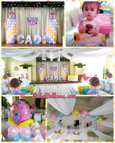 Disney Princess Balloons with Tarp, Standee and Upgraded Letters