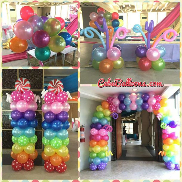Balloons in assorted colors and type
