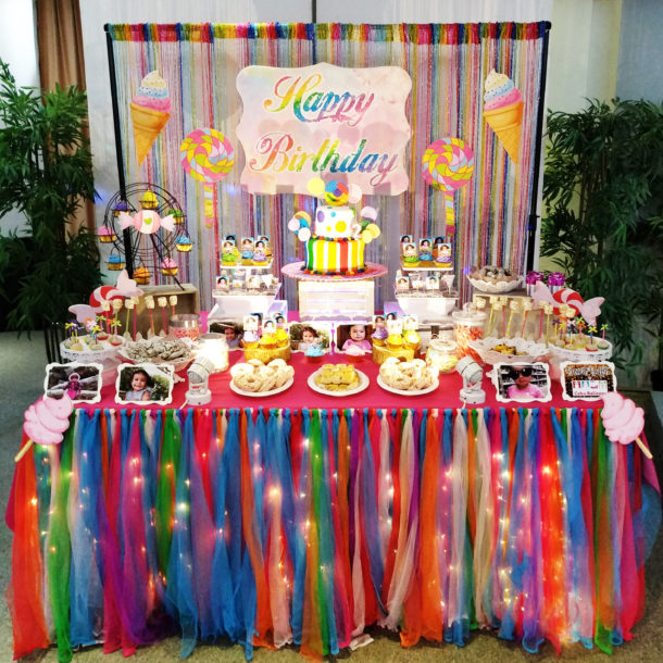 Candyland Dessert Buffet for Thalia and Sakura's 2nd Birthday at Big Hotel
