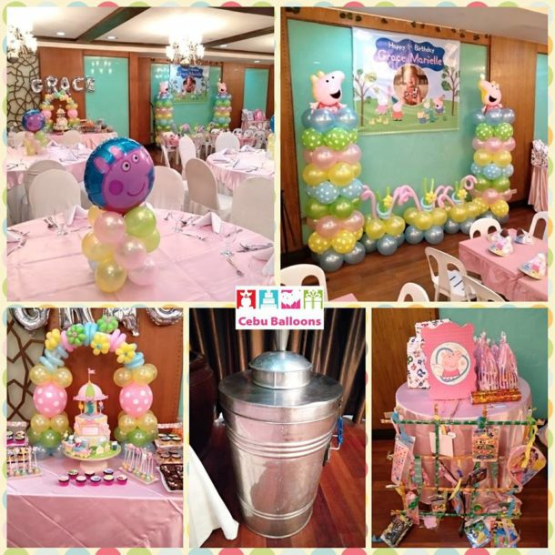Peppa Pig Party Supplies with Balloon Decors