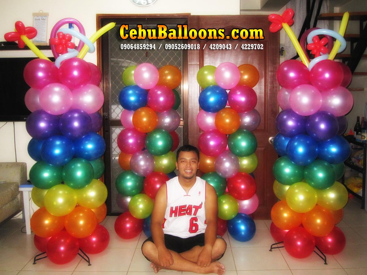 balloon decorating ideas ceiling - Hawaiian Luau