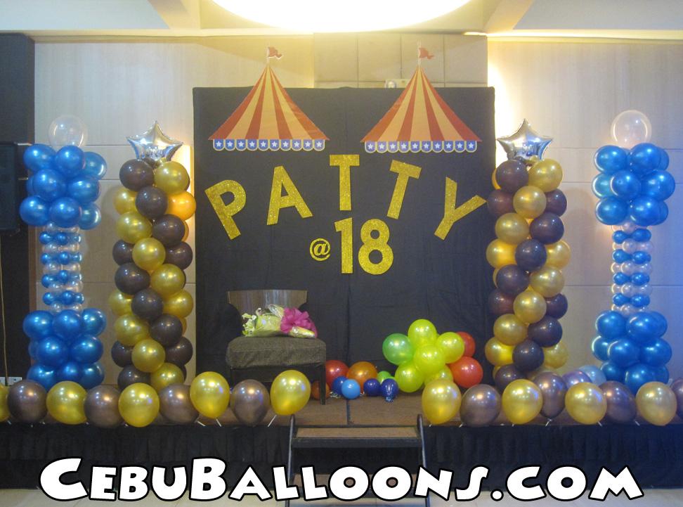 18th Birthday Balloon Decoration At Cafe Laguna Ayala