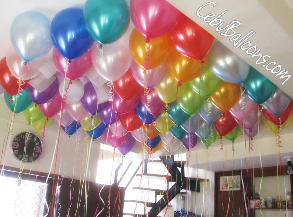 Colorful Flying Metallic Balloons Cebu Balloons And