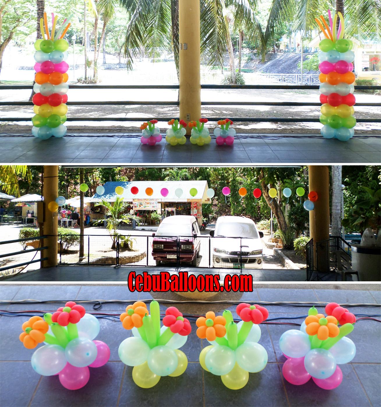 Hawaiian Balloon Decoration At Dfamily Park Talamban Cebu