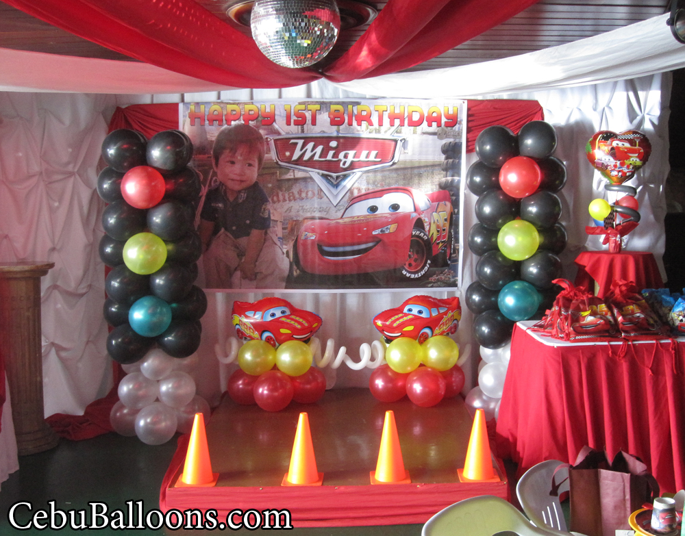 Lightning Mcqueen Decoration At Royal Concourse Cebu