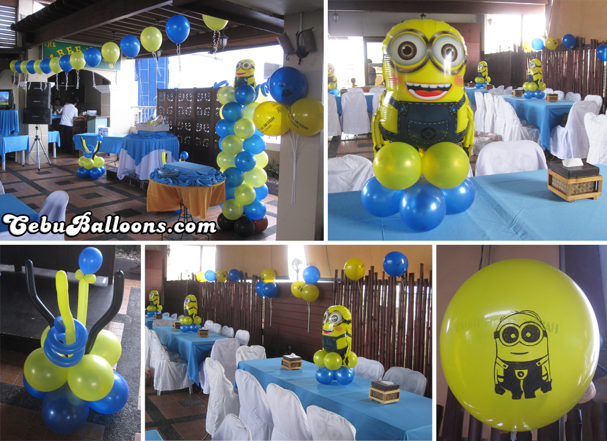 minion decoration minions despicable me cebu balloons and supplies 18726
