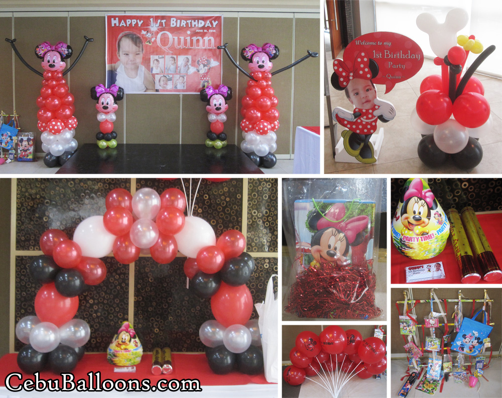 Red Minnie Mouse Balloon Decoration Party Package At Citi Suites