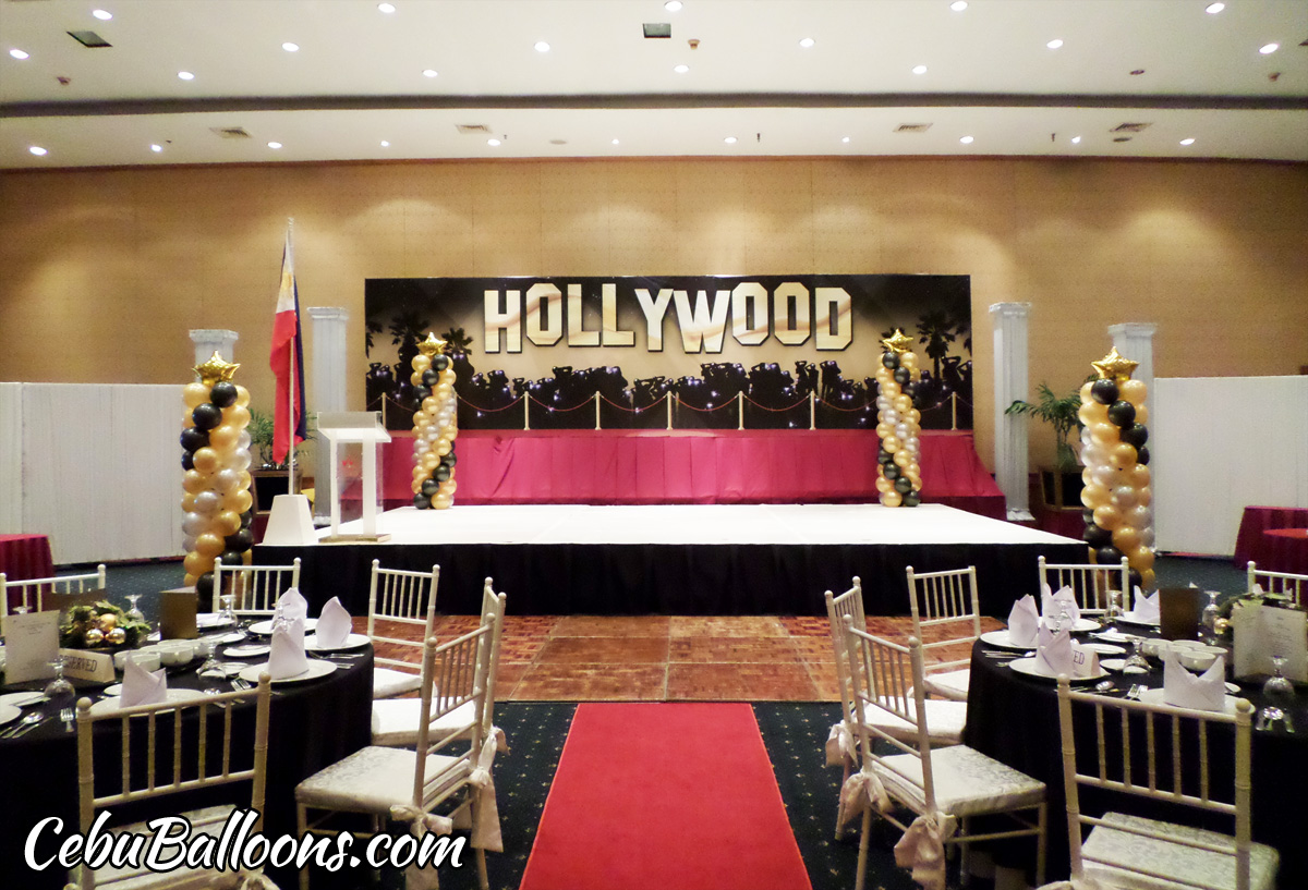 Hollywood Theme Decoration at Waterfront Hotel for Global