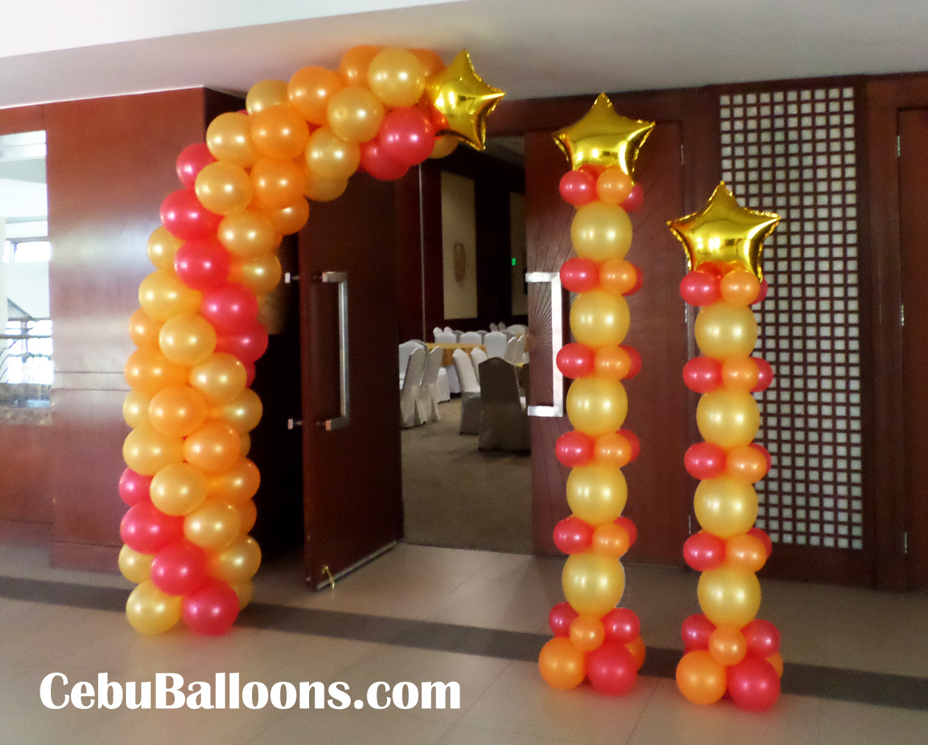 Balloon Decorations At The Entrance For A 75th Birthday Celebration City Sports Ayala